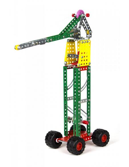 """Technok """"Statybų technika"""" metalinis konstruktorius lagaminėlyje"""